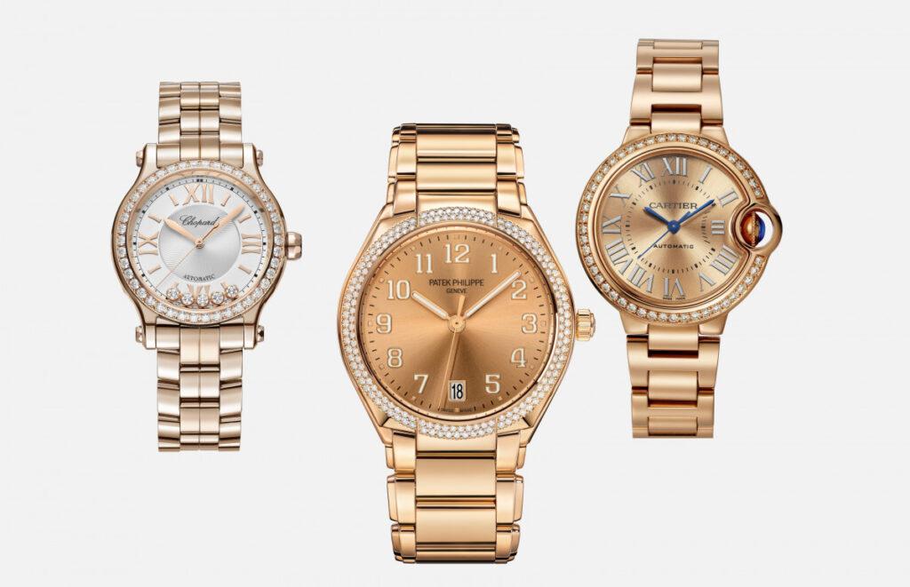 Выбираем золотые часы на золотом браслете